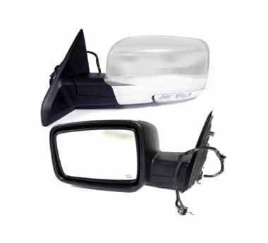Two auto mirror on a white background