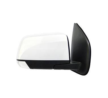 An auto mirror on a white background