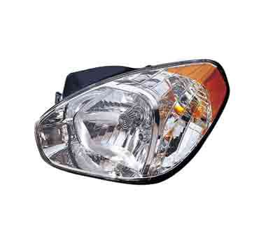 Head lamp on a white background